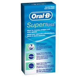 Зубная нить ORAL-B SUPER FLOSS (50 нитей)