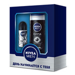 NIVEA FOR MEN Под. набор СИЛА И ЗАЩИТА (гель д/душа 84045+део-шарик 82245) короб.