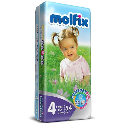 da9f9abcb39e Детские подгузники MOLFIX C.FIX Макси Плюс (9-16 кг), 54 шт+влажные салфетки