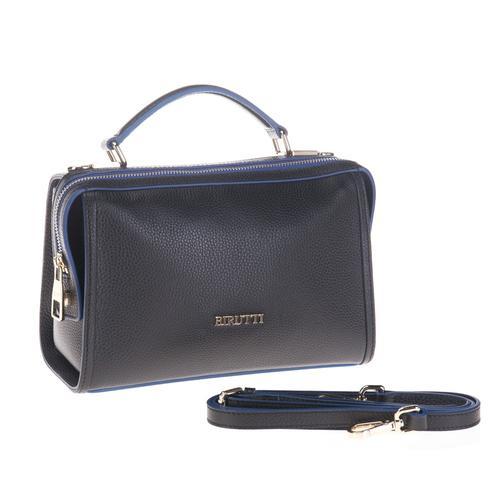 d5f5105b25a8 Купить классическая сумка alessandro birutti черная симфония синий ...