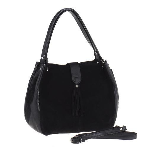 4caf93ed736a Купить классическая сумка alessandro birutti черная замша симфония ...